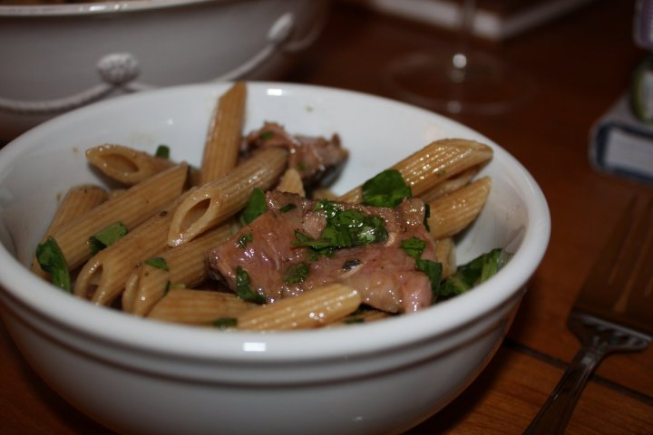 Whole Wheat Penne with Steak + Arugula