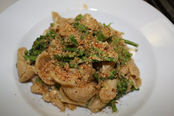 Autumn in NY: Broccolini, White Bean + Pecorino Pasta