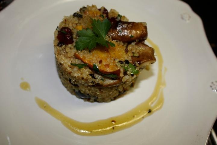 Maple Quinoa with Butternut Squash and ShitakeMushrooms