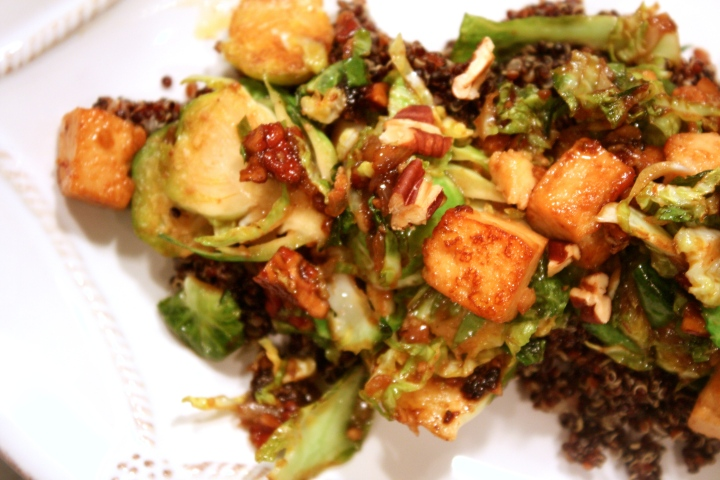 DEFINE foods: Miso-Maple Brussels Sprouts &Tofu