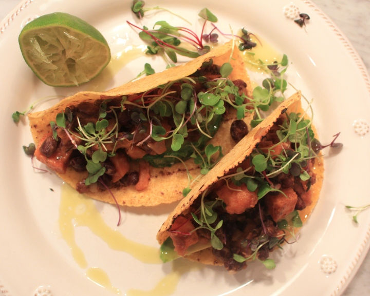 DEFINE foods: Chipotle Black Bean + Sweet Potato Tacos