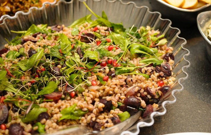 DEFINE foods: Farro Salad w Roasted Grapes & Pomegranate