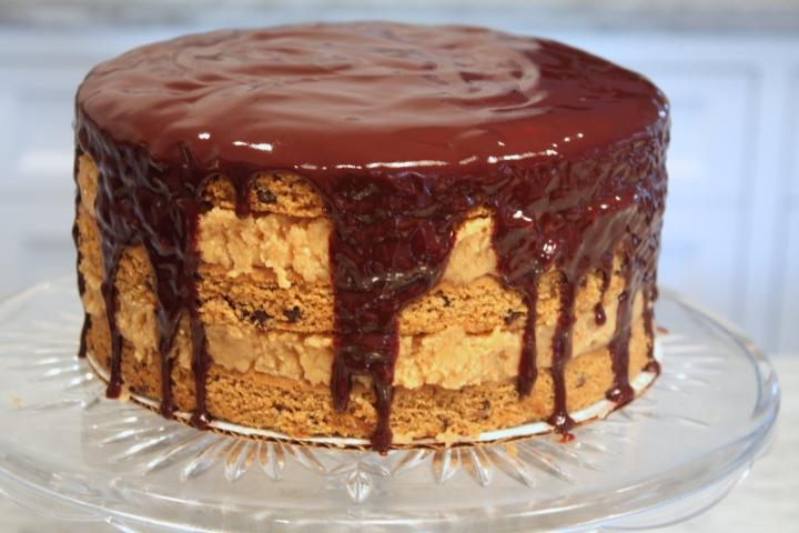 DEFINE foods: Chocolate Chip Peanut Butter Cake w ChocolateGanache