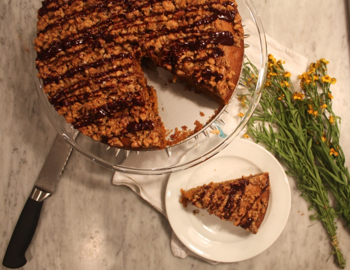 Pumpkin Chocolate Crumb Cake
